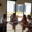 Na foto, da esquerda para a direita: Randolpho de Souza, vice-presidente do Sindicato, Robson Leite, superintendente regional de Trabalho e Emprego, Paula Máiran, presidente do Sindicato, e Cláudia de Abreu, secretária-geral do Sindicato